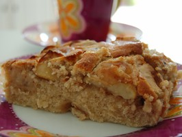 Gâteau aux pommes/poires, sans gluten sans oeufs - Doriane